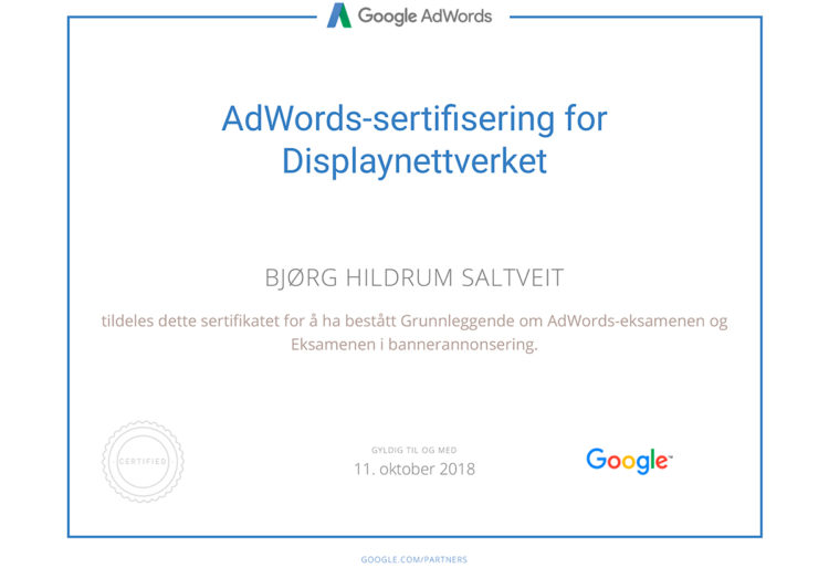 Google Adwords - Certification